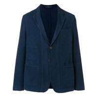 Boglioli Blazer Com Bolso - Azul