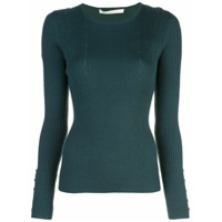 Jason Wu Collection Suéter De Tricô Canelado - Verde