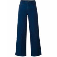 Simon Miller Calça Pantalona De Linho - Azul