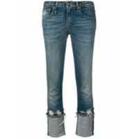 R13 Calça Jeans Cropped - Azul