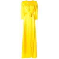 Rhea Costa Vestido De Cetim - Amarelo