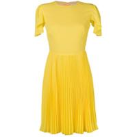 Mulberry Vestido Com Pregas - Amarelo