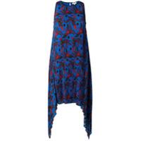 Kenzo Vestido Com Estampa 'phoenix' - Azul