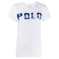 Polo Ralph Lauren Camiseta De Algodão Com Aplicação De Contas - Branco