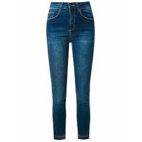 Le Lis Blanc Calça Jeans 'paula' Capri - Azul