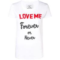 Quantum Courage Camiseta 'love Me Forever Or Never' - Branco