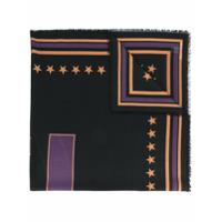 Givenchy Echarpe Estampada '17' - Preto