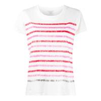 Majestic Filatures Camiseta Listrada - Branco