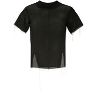 Song For The Mute Blusa Com Mesh - Preto