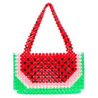 Susan Alexandra Watermelon Beaded Bag - Vermelho