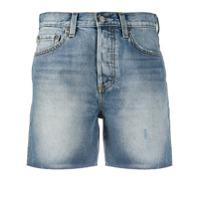 Boyish Jeans Short Jeans Com Efeito Manchado - Azul