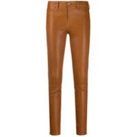 J Brand Calça Jeans Skinny Cintura Média - Marrom