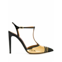 Ralph Lauren Collection Scarpin Envernizado - Dourado