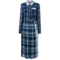 Hilfiger Collection Vestido Midi Com Pregas - Azul