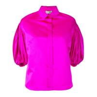 Dice Kayek Camisa Com Mangas Drapeadas - Rosa