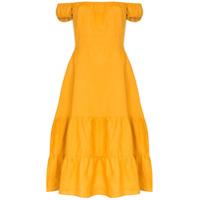 Reformation Vestido Toulouse Ombro A Ombro - Amarelo