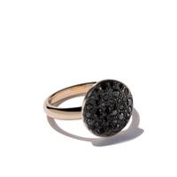 Pomellato Anel 'sabbia' De Ouro Rosê 18K Com Diamantes Negros - Black