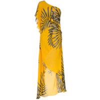 Johanna Ortiz Vestido Assimétrico De Seda - Amarelo
