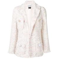 Edward Achour Paris Blazer Estruturado De Tweed - Branco