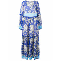 P.a.r.o.s.h. Vestido Longo Floral - Azul