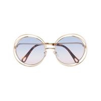 Chloé Eyewear Óculos De Sol Carlina - Dourado