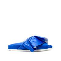 Joshua Sanders Sandália De Couro Com Babado - Azul
