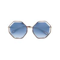 Chloé Eyewear Óculos Octogonal Tartaruga - Marrom