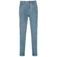 Le Lis Blanc Calça Jeans Girlfriend Cropped - Azul