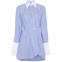 Wright Le Chapelain Camisa Assimétrica Listrada - Azul