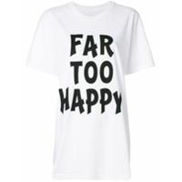 House Of Holland Camiseta 'far Too Happy' - Branco