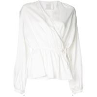 Ingie Paris Blusa Transpassada Com Decote Em V - Branco