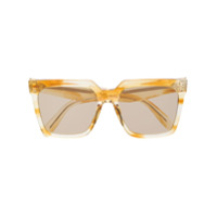 Celine Eyewear Óculos De Sol Oversized - Amarelo