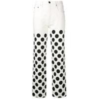 House Of Holland Calça Jeans Com Poá - Branco