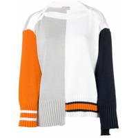 Mrz Suéter Color Block - Branco