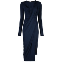 Jason Wu Collection Vestido Midi Drapeado - Azul