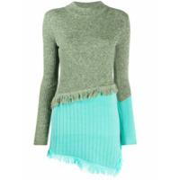 Andersson Bell Suéter Assimétrico Color Block - Verde