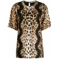 Roberto Cavalli Camiseta 'animalier' - Marrom