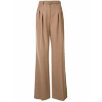 Gabriela Hearst Calça Pantalona Dora Com Cinto - Marrom