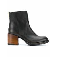 Sartori Gold Ankle Boot Com Salto Robusto - Preto