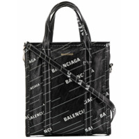 Balenciaga Bolsa 'bazar Shopper Xs' De Couro - Preto