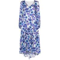Borgo De Nor Vestido Longo Com Estampa Floral - Azul