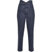 Pinko Calça Jeans Cintura Alta - Azul