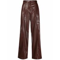 Nanushka Calça Pantalona Cleo - Marrom