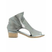 Officine Creative Ankle Boot De Couro Com Abertura Frontal - Cinza