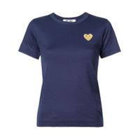 Comme Des Garçons Play Camiseta 'gold Heart' - Azul