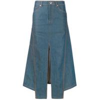 Lanvin Saia Jeans Midi Com Fenda - Azul