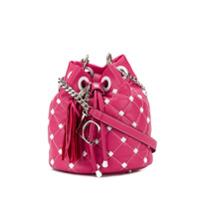 La Carrie Bolsa Saco Com Tachas - Rosa