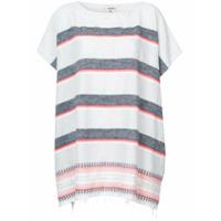 Lemlem Camiseta Oversized Listrada - Cinza