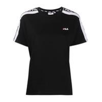 Fila Camiseta Gola Careca Com Logo - Preto