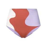 Mara Hoffman High-Rise Bikini Bottoms - Roxo